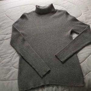 Knit Turtleneck Festive Silver Gray